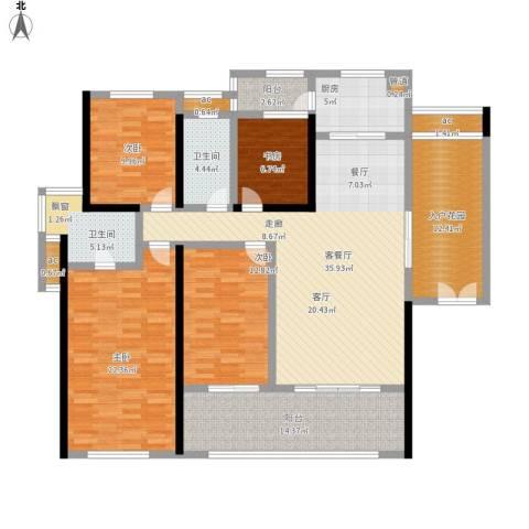 珑湖湾东岸4室1厅2卫1厨196.00㎡户型图