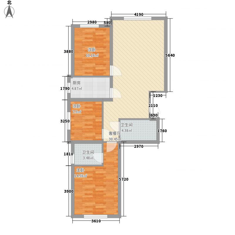 朝阳新苑112.64㎡A户型3室2厅2卫1厨