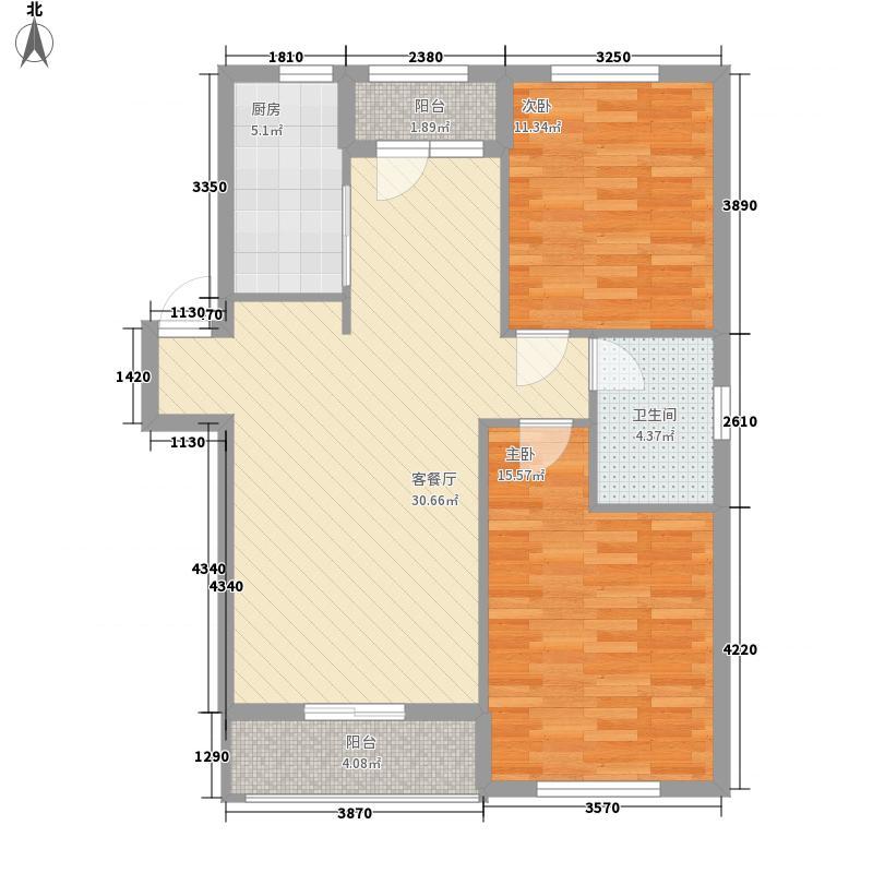 朝阳新苑6.31㎡D1户型2室2厅1卫1厨
