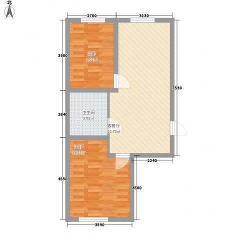 高新花园2室1厅1卫0厨70.00㎡户型图
