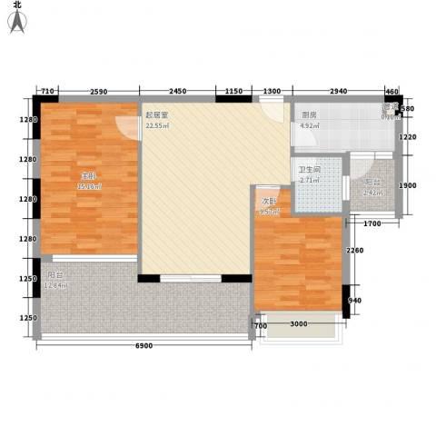 御花苑天逸湾2室0厅1卫1厨385.00㎡户型图