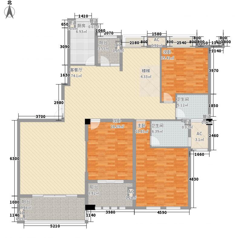 筑家尚水东郡244.78㎡2#2002/2003复式1层户型5室3厅4卫1厨