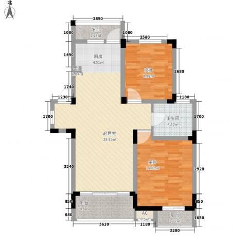 阳光水世界2室0厅1卫0厨94.00㎡户型图