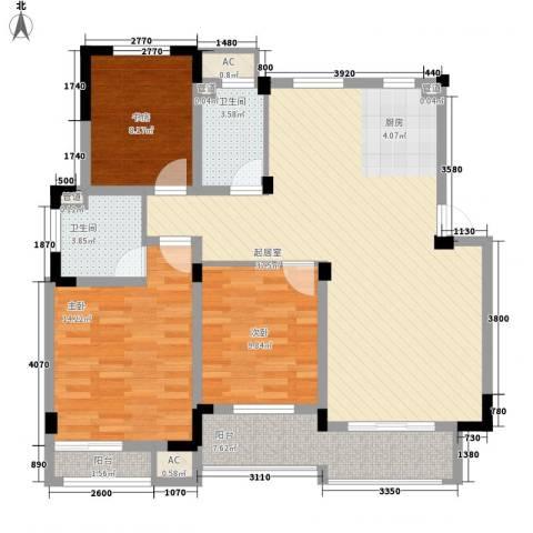阳光水世界3室0厅2卫0厨127.00㎡户型图