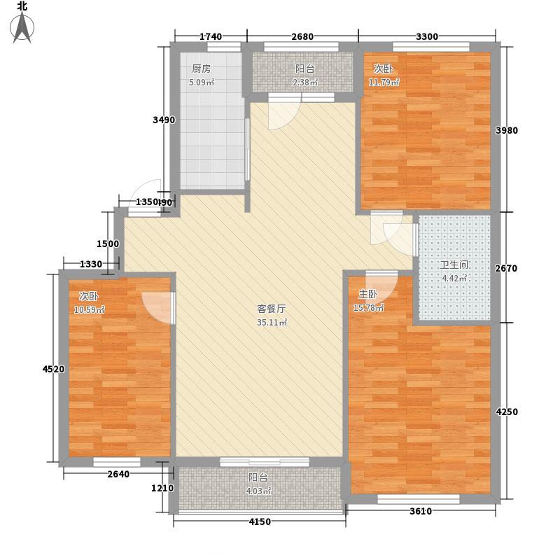 朝阳新苑112.51㎡B1户型3室2厅1卫1厨