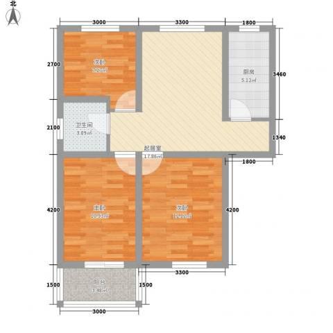 御景名门3室0厅1卫1厨88.00㎡户型图
