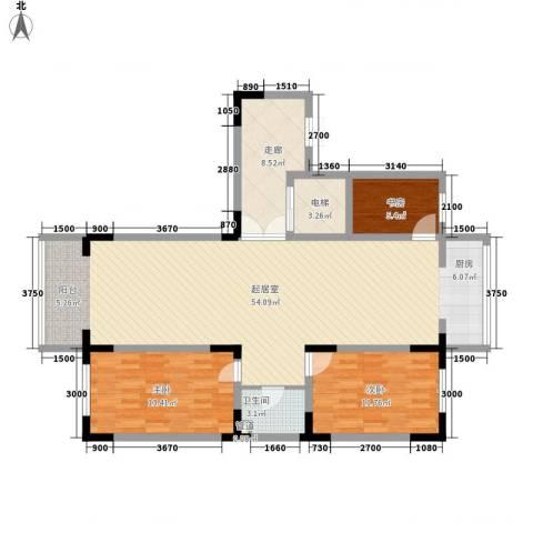 长江花园3室0厅1卫0厨122.00㎡户型图