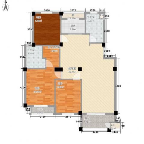 长宏水岸名城3室0厅2卫1厨133.00㎡户型图