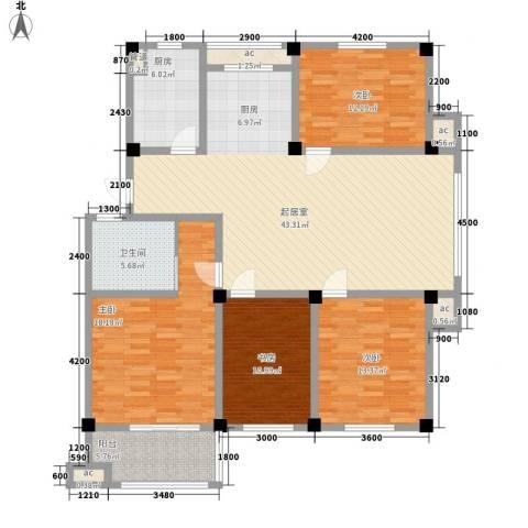 长宏水岸名城4室0厅1卫1厨133.00㎡户型图