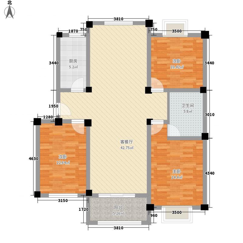 金和家园138.30㎡金和家园户型图E(多层)3室2厅2卫1厨户型3室2厅2卫1厨