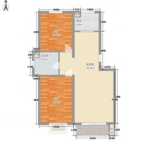 水语青城2室0厅1卫1厨103.00㎡户型图