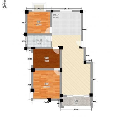金和家园3室1厅1卫0厨95.00㎡户型图