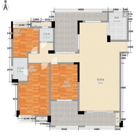 万林湖别墅3室0厅2卫1厨184.00㎡户型图