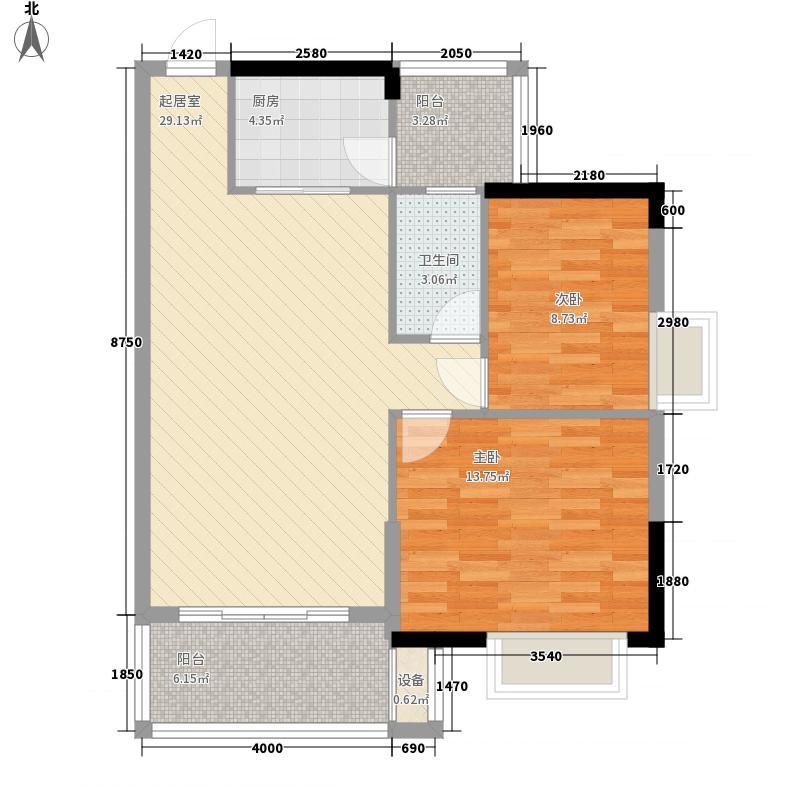 金沙人家花园71.12㎡金沙人家花园户型图1栋02单元2室2厅1卫1厨户型2室2厅1卫1厨