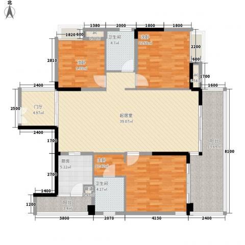 万林湖别墅3室0厅2卫1厨115.95㎡户型图