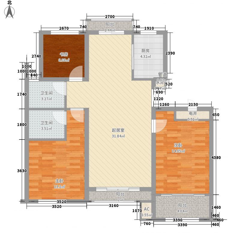 郡城龙泉湾123.00㎡郡城龙泉湾A户型3室2厅2卫1厨123.00㎡户型3室2厅2卫1厨