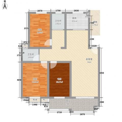名仕・佳园3室0厅2卫1厨125.00㎡户型图