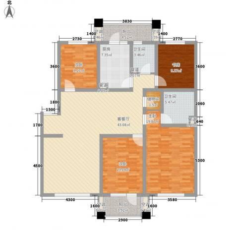 我的家园4室1厅2卫1厨160.00㎡户型图
