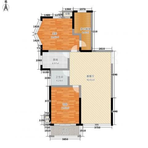 乐客来国际商业中心2室1厅1卫1厨117.00㎡户型图