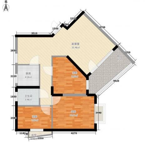 聚豪园3室0厅1卫1厨115.00㎡户型图