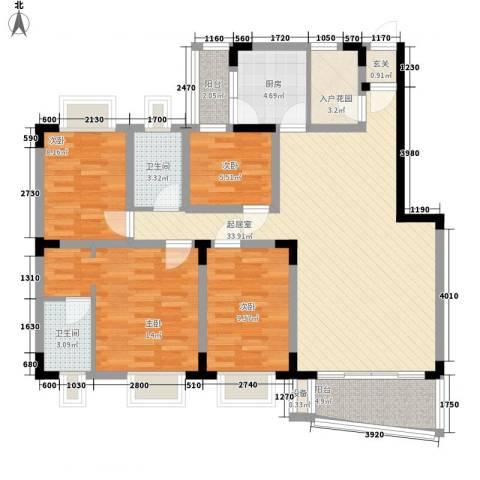 聚豪园4室0厅2卫1厨138.00㎡户型图
