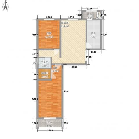 航萃园二期2室0厅1卫1厨95.00㎡户型图