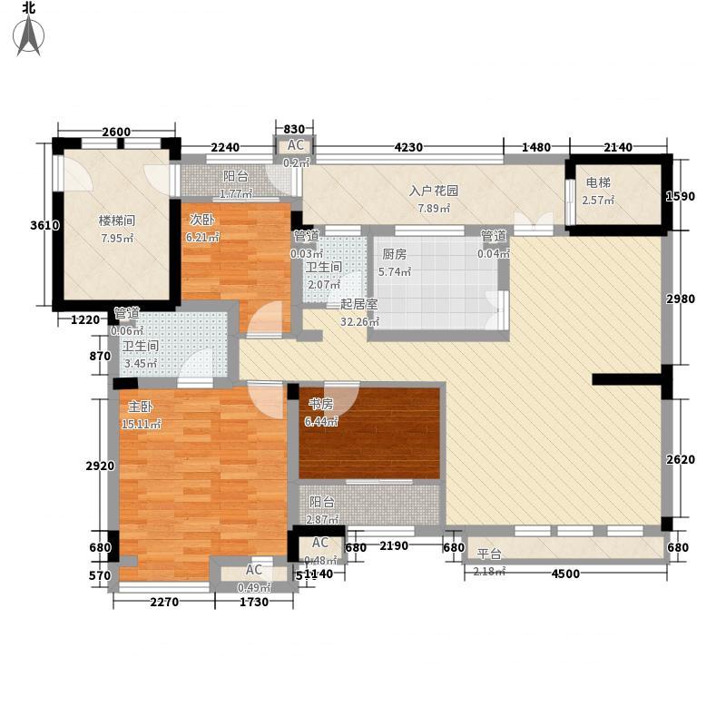 十里洋房逸墅148.31㎡8-D4-2-401()户型3室2厅2卫1厨