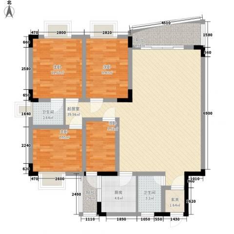 聚豪园4室0厅2卫1厨135.00㎡户型图