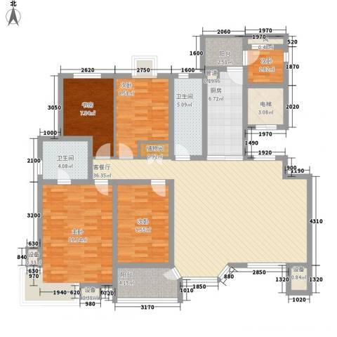幸福E家四期5室1厅2卫1厨161.00㎡户型图