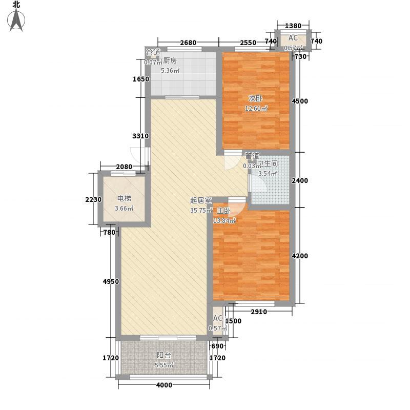 外海蝶泉山庄别墅13.21㎡E1户型2室2厅1卫