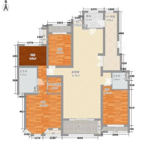 曦城花语3室0厅2卫1厨184.00㎡户型图