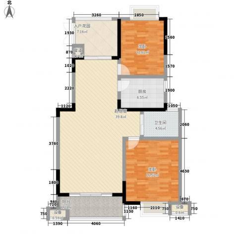 绿地国际花都2室0厅1卫1厨94.22㎡户型图