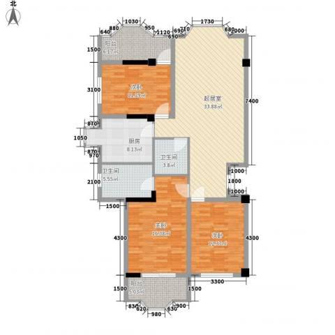 金玉华庭3室0厅2卫1厨145.00㎡户型图