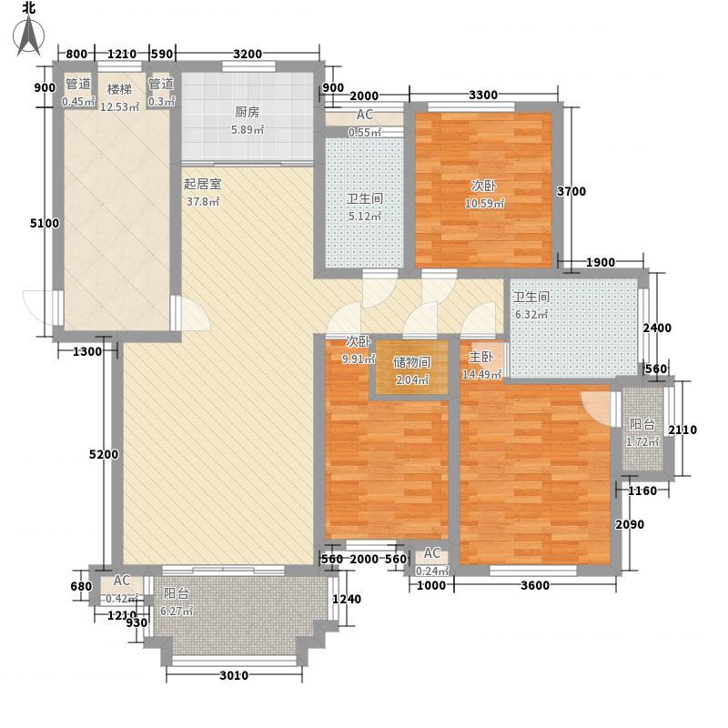 华阳文锦园H户型3室2厅2卫1厨