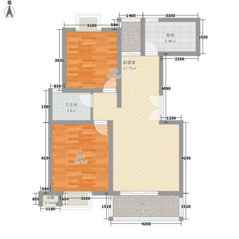 绿地国际花都2室0厅1卫1厨155.00㎡户型图