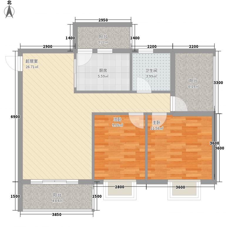 馨雅小苑2#楼2-D户型