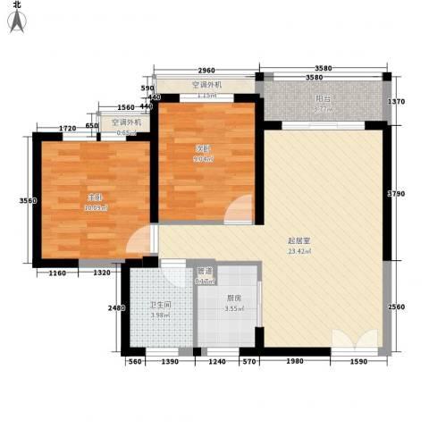 五洲国际广场2室0厅1卫1厨78.00㎡户型图