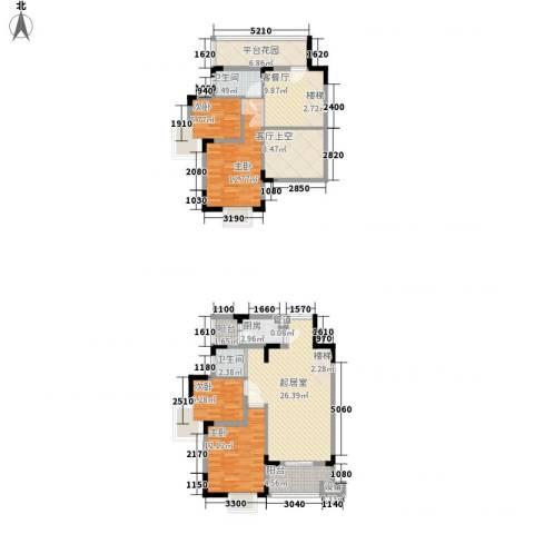 中兴渝景苑4室1厅2卫1厨122.00㎡户型图