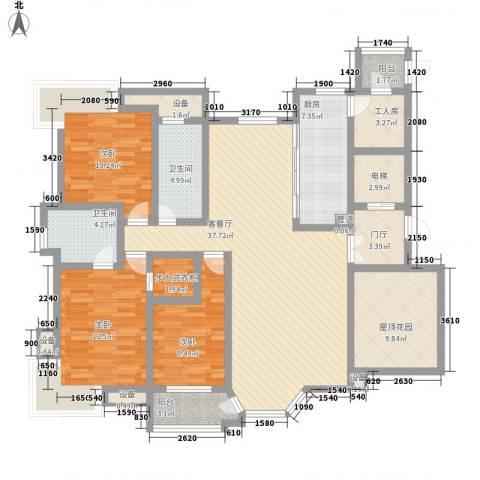 幸福E家四期3室1厅2卫1厨170.00㎡户型图
