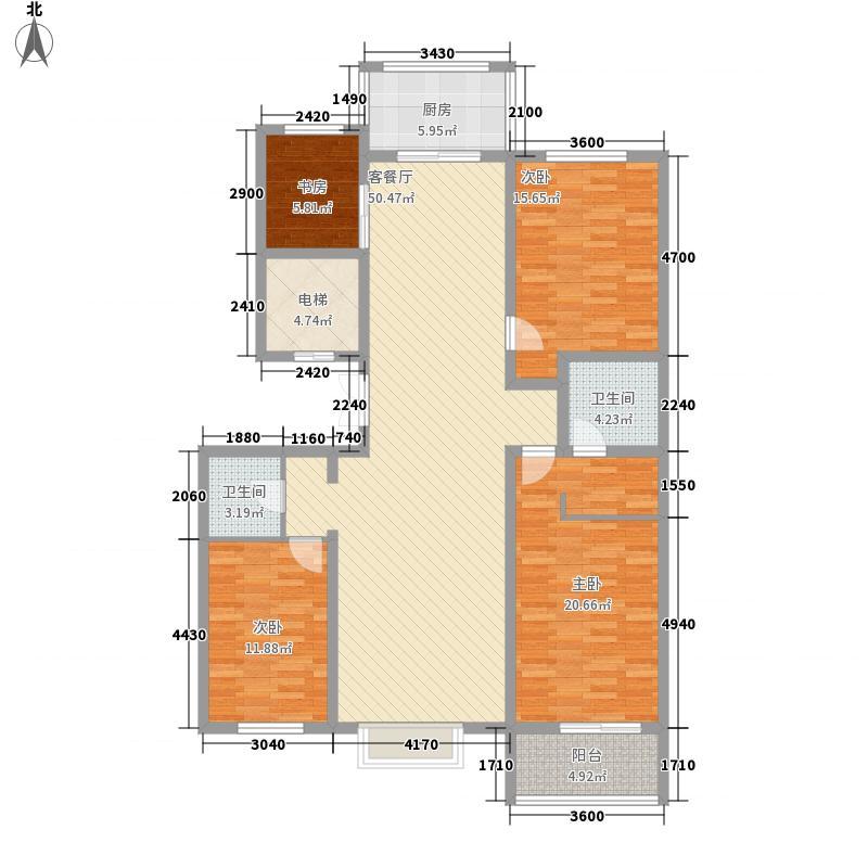 金山・九泷湾16.27㎡小高层G2-B户型4室2厅2卫1厨