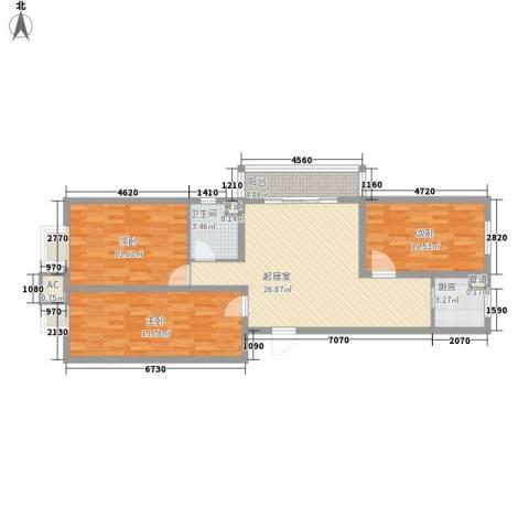 水语青城3室0厅1卫1厨113.00㎡户型图