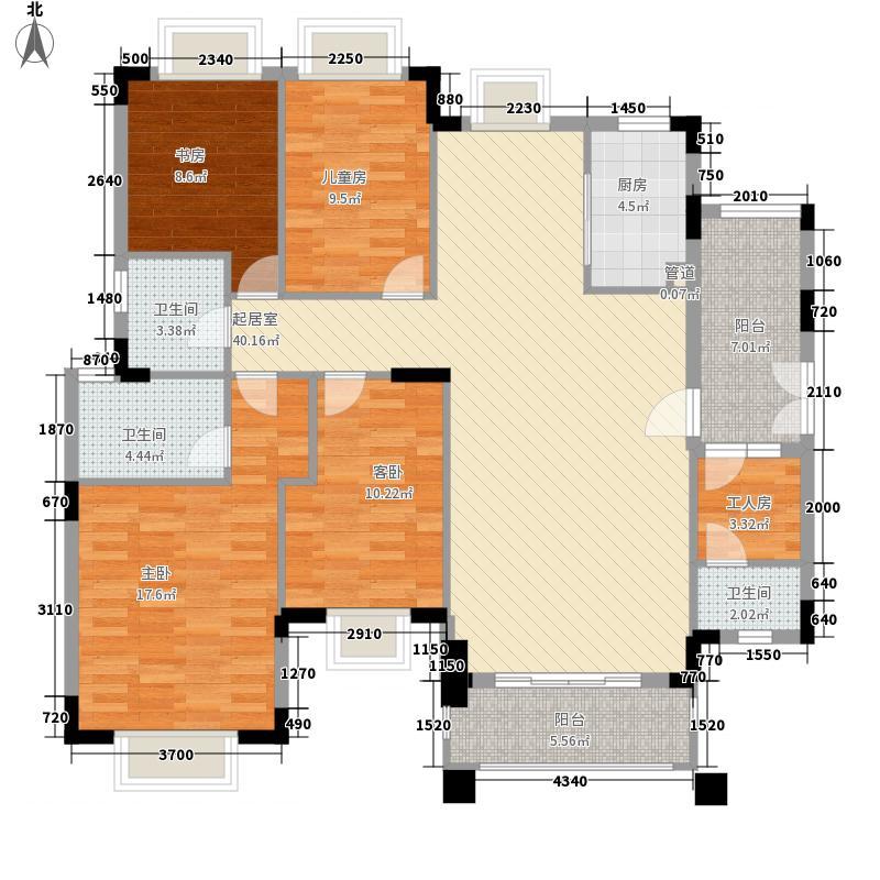 保利紫山163.00㎡逸景阁、愉景阁09单元户型5室2厅3卫1厨