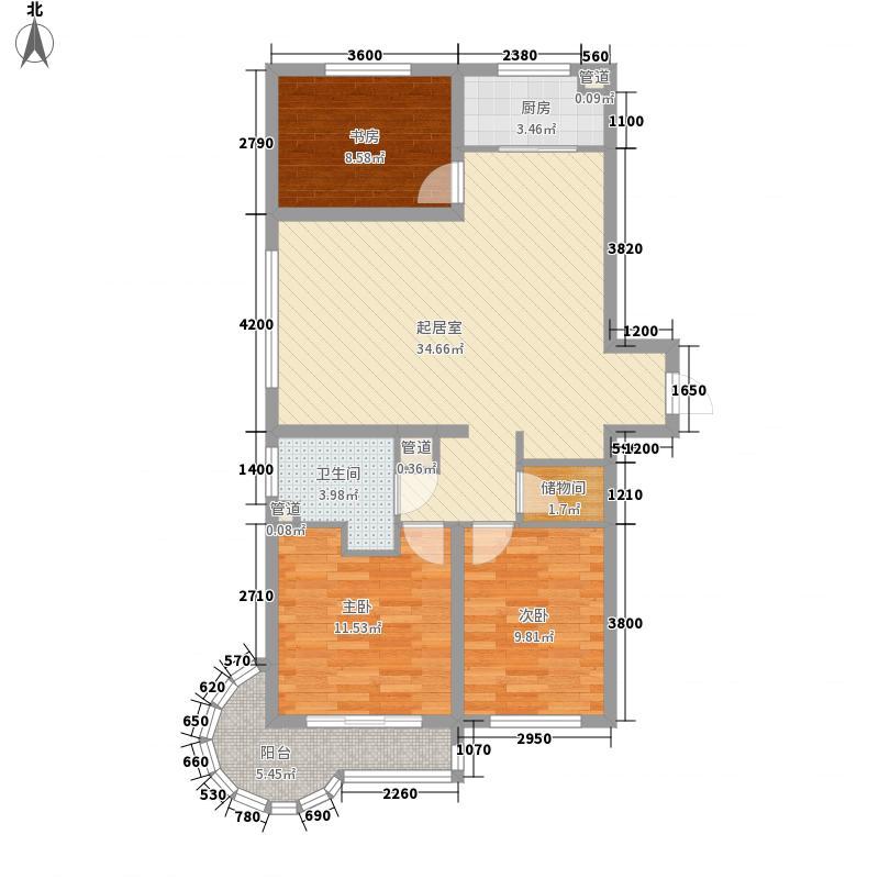 水御兰庭114.34㎡水御兰庭户型图3室2厅1卫1厨户型10室