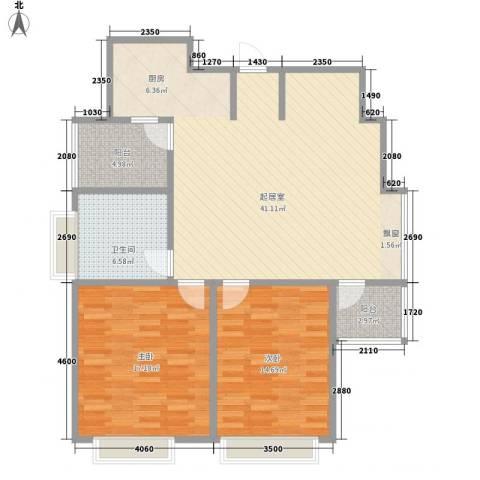 国信新城三期2室0厅1卫0厨120.00㎡户型图