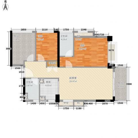 万科虹溪诺雅别墅2室0厅2卫1厨105.00㎡户型图