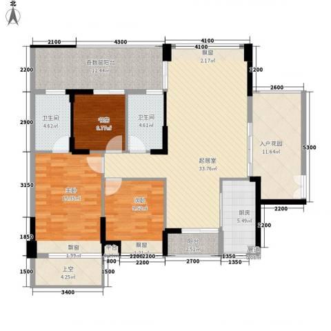 城投・七里香榭3室0厅2卫1厨157.00㎡户型图