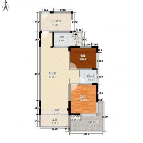城投・七里香榭2室0厅1卫1厨108.00㎡户型图