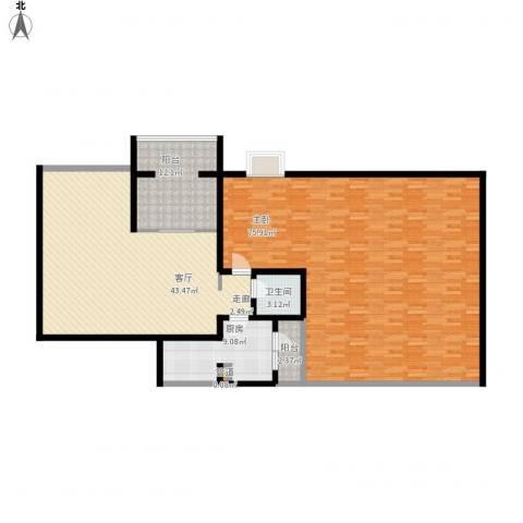 学府芳邻1室1厅1卫1厨200.00㎡户型图