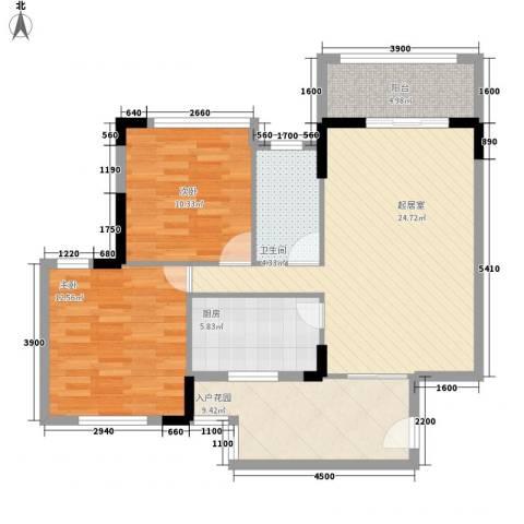 格林童话世界别墅2室0厅1卫1厨84.00㎡户型图