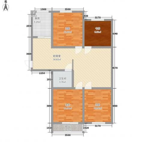 瑞和园4室0厅1卫1厨123.00㎡户型图